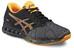 asics fuzeX Shoe Men Aluminum/Hot Orange/Black